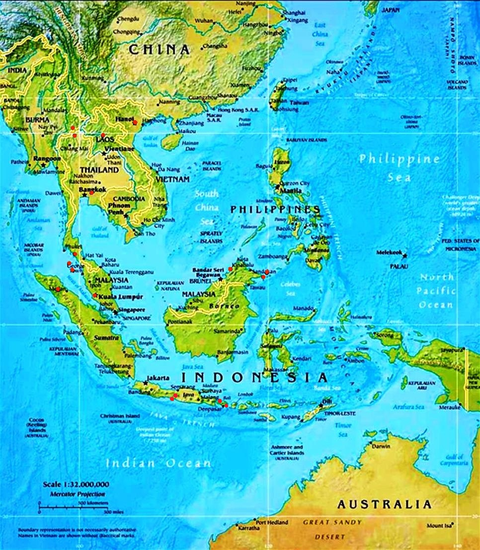 Map Of China And Southeast Asia.China Southeast Asia Maps Linked To Image Galleries